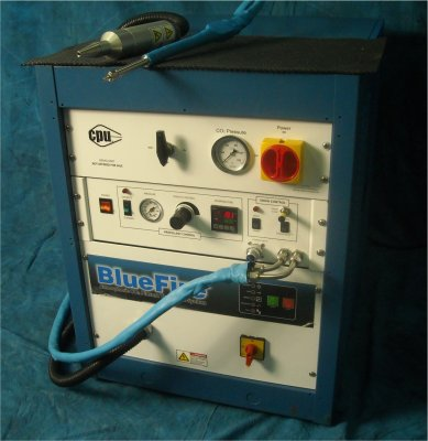BlueFire BF8000 combined Plasma and C02 Spray Cleaning System