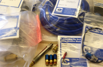 Comco Micro abrasive blaster Spare Parts and Maintenance kits