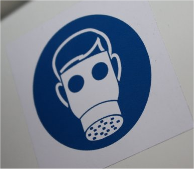 Dust Mask Dust Collector Logo Symbol
