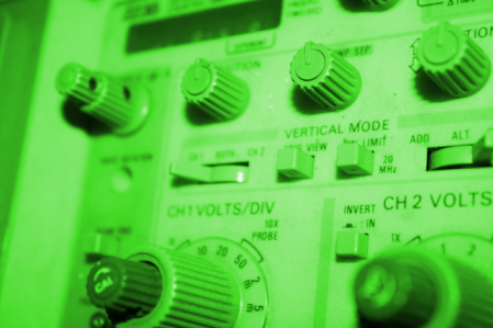 Test And Measurement Equipment - Picture of an oscilloscope panel