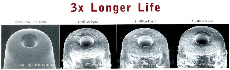 3 million bonds with a capillary ? You can with Infinity - 3.5 Times Longer Tool Life Capillaries from SPT