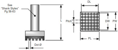 REST Tool Dimensions and Configuration Rubber Epoxy Stamping Tools