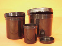 UV Containers With Screw Top Lids