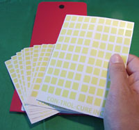 UV Intensity labels and Fastcheck strips for uv exposure mensurement
